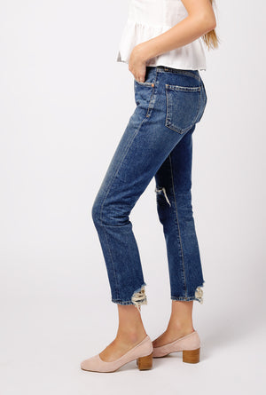 Dree Crop High Rise Zip Jean - Sessions
