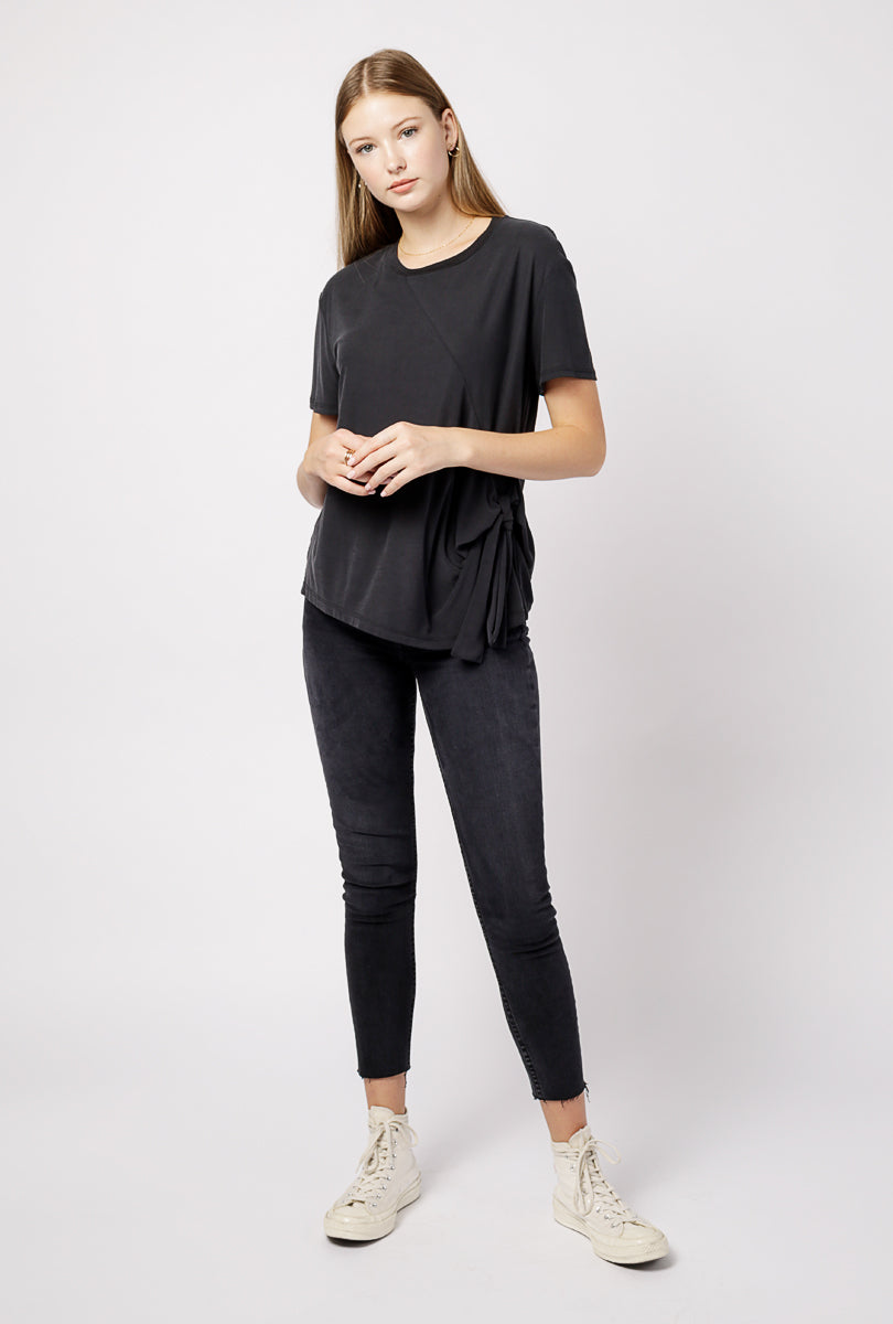 Front Tie Knit Top