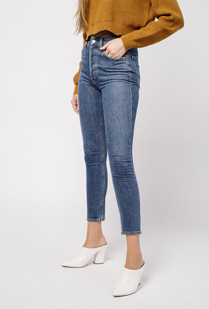Nico Hi Rise Slim Fit Jean in Subdued