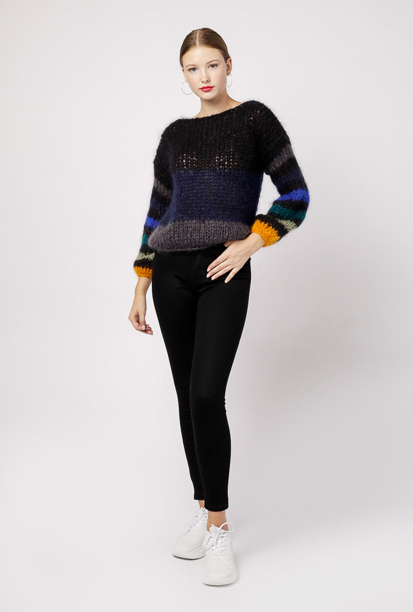 Mohair Stripe Sweater