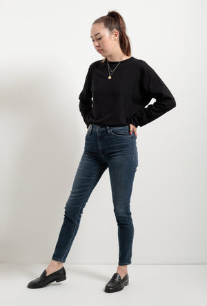 Barbara High Waist Skinny Ankle Jean in Gambit