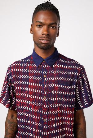 SS Point Collar Triangle Line Shirt