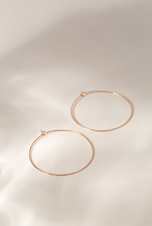 Medium Floating Hoop Earrings