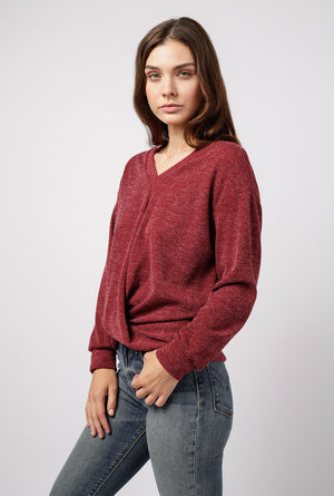 Twist Front Hacci Sweater