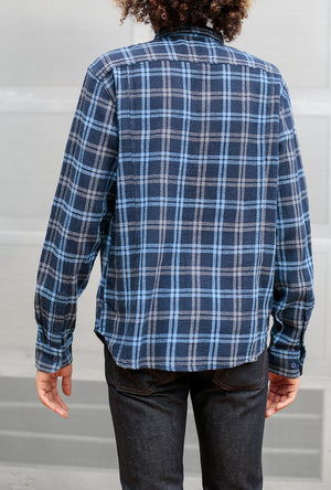 Basketweave Plaid L/S Shirt