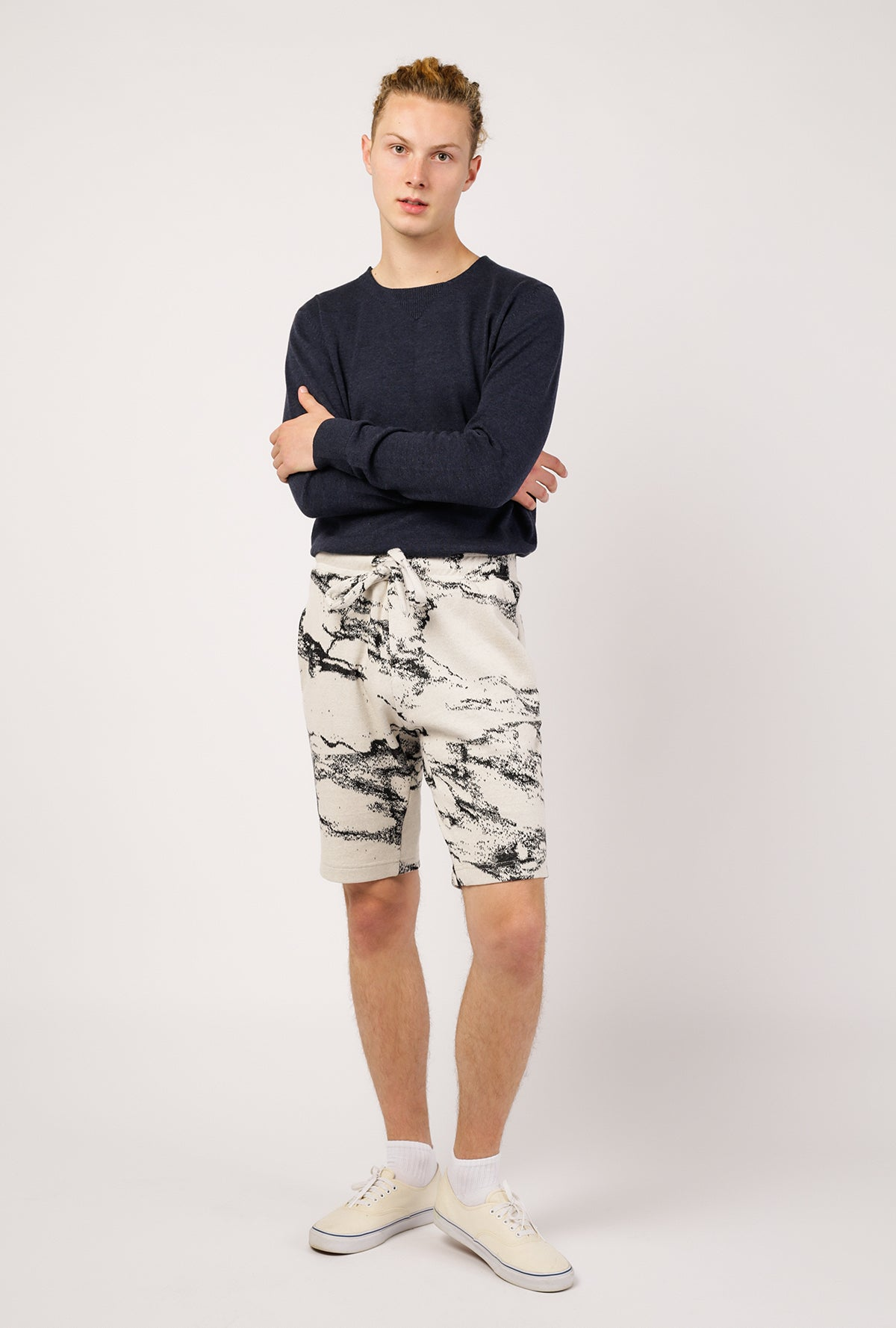 Graham Marble Knit Short