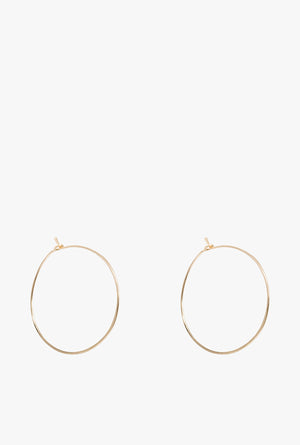 Small Floating Hoop Earrings