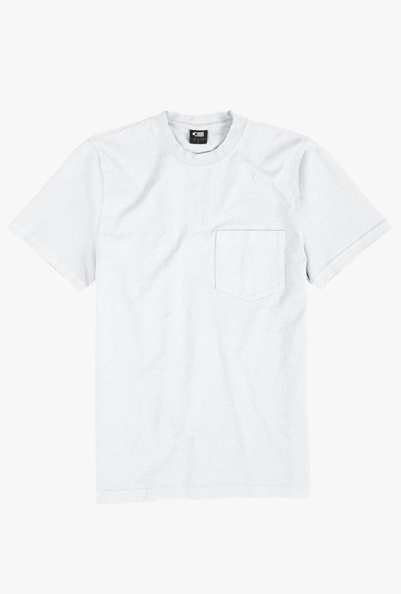 8 oz Bison Pocket Tee - White