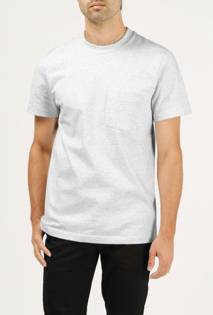 8 oz Bison Pocket Tee - Grey