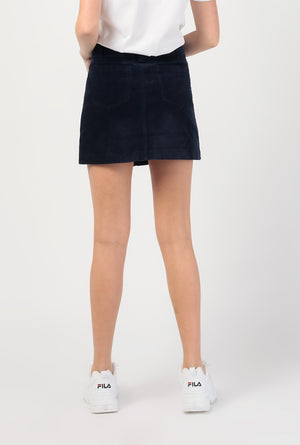 Corduroy A Line Mini Skirt