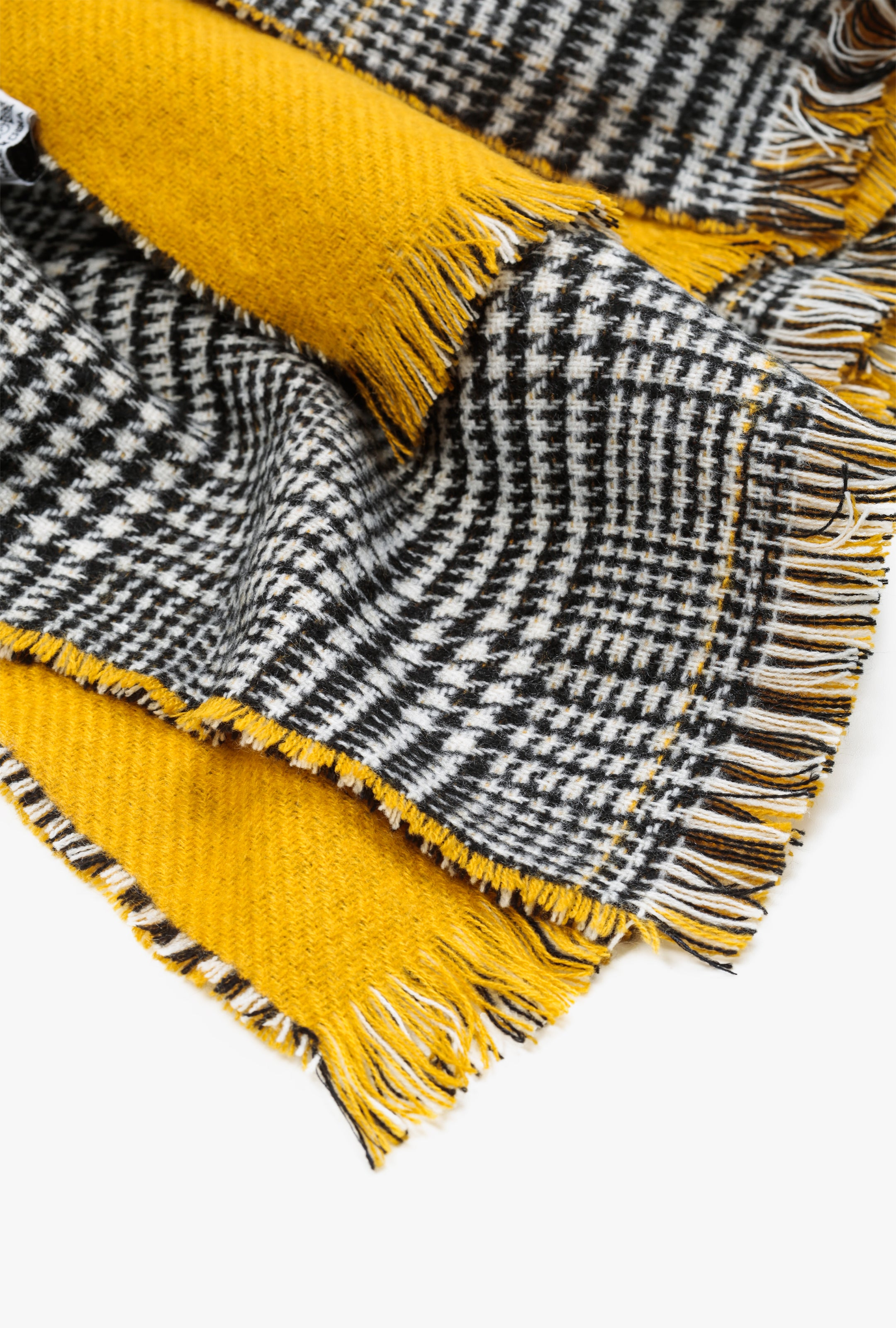 Mixed Houndstooth Blanket Scarf