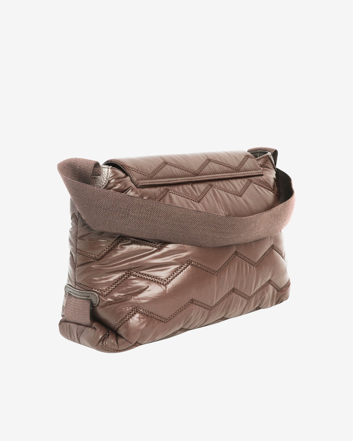 Billow Quilted Wavy Bag in Mushroom