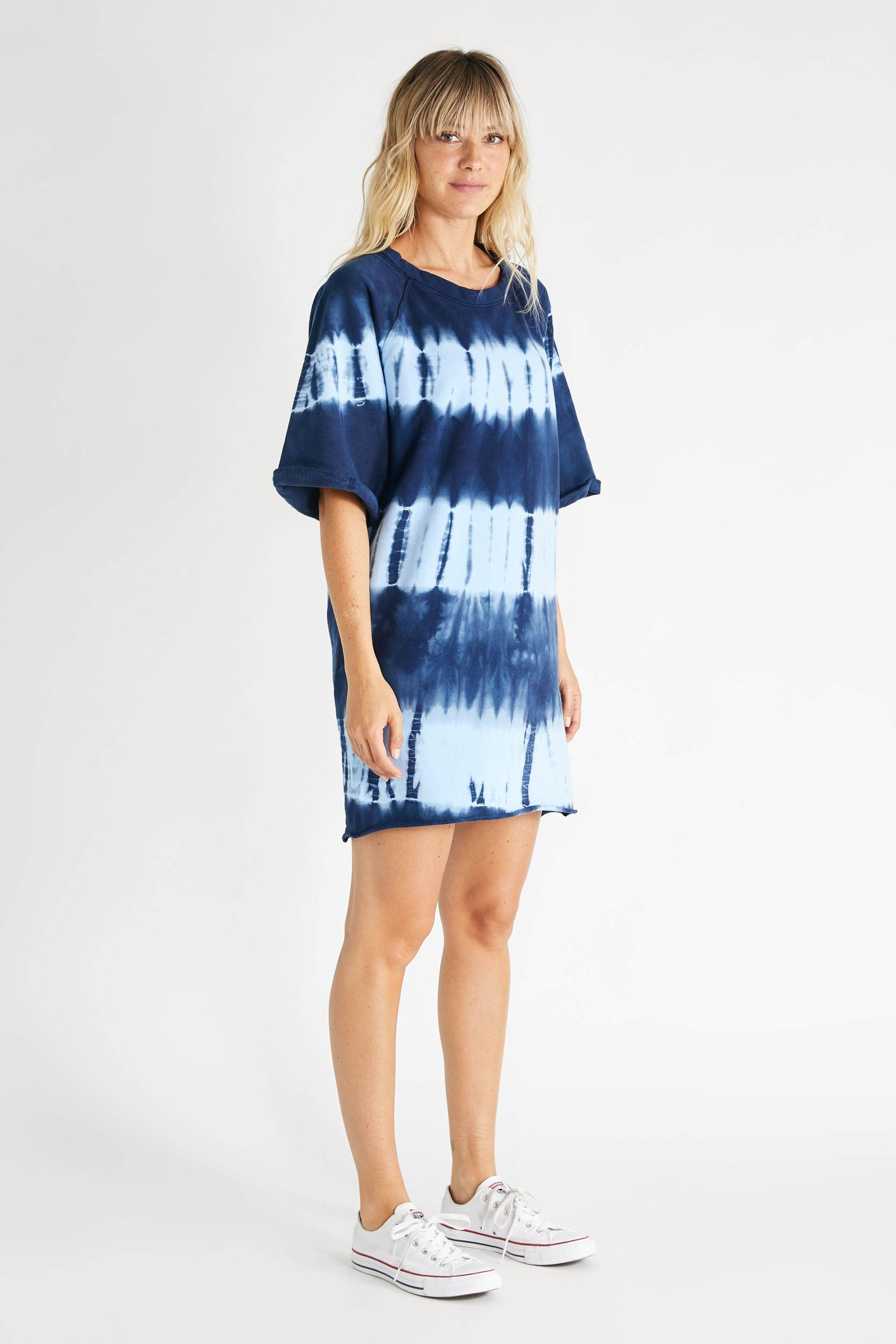 Brooklyn Dress - Indigo Shibori