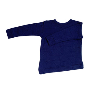 Asymmetric Pullover - Quilted Deep Blue - Youth