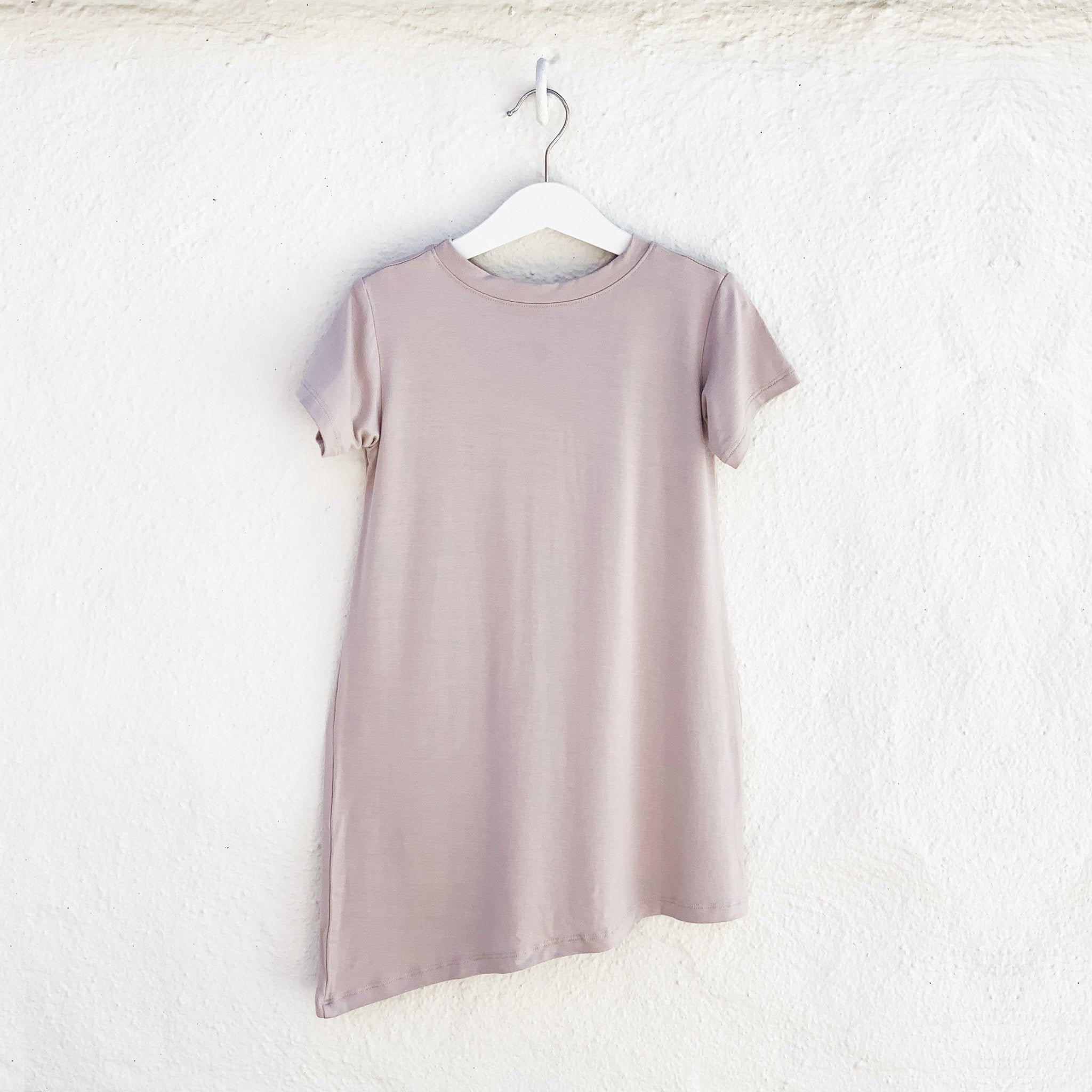 Asymmetric T-shirt Dress - Mocha