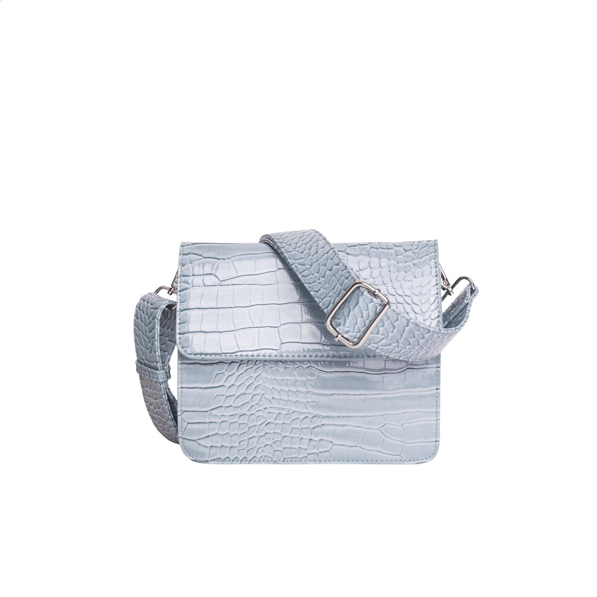 Cayman Shiny Strap Bag in Dusty Blue