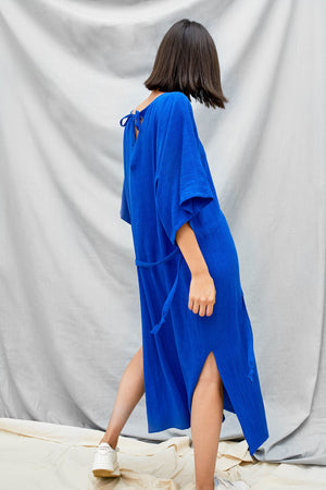 Tie Back Dress - Lapis
