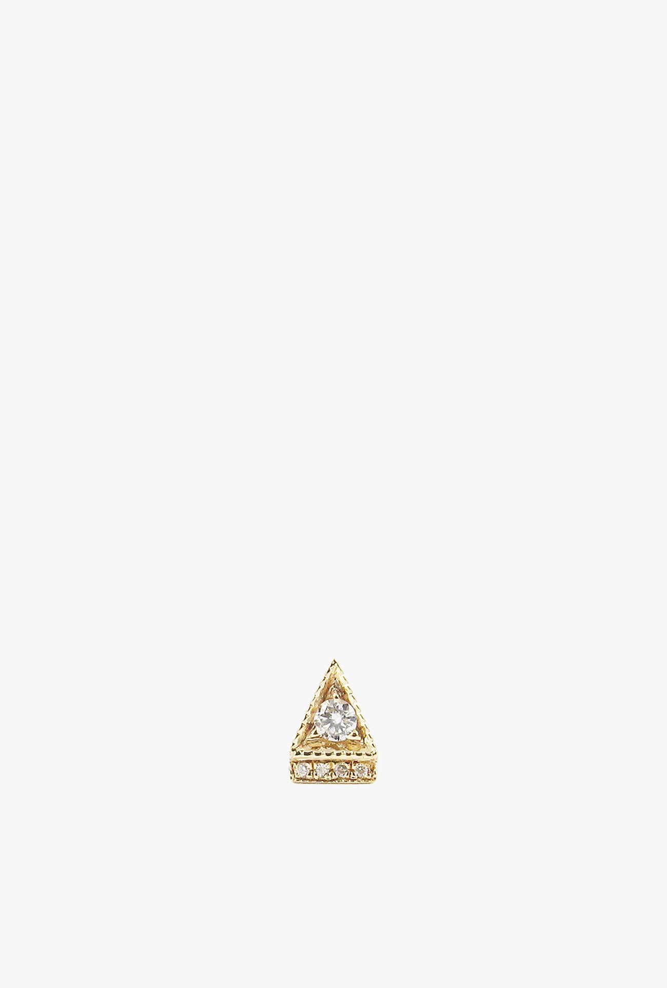 Diamond Deco Point Triangle Stud Earring