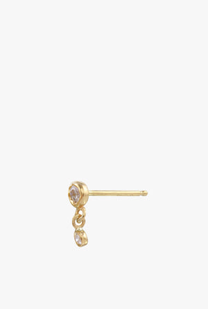Double Diamond Dangle Stud
