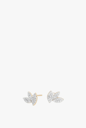 Tiny Pave Marquise Cluster Earrings