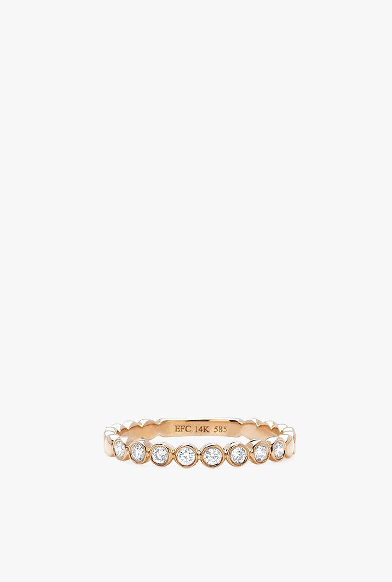 Bezel Diamond Stack Ring