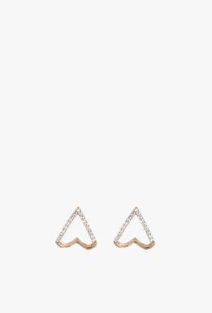 Diamond Mini Chevron Huggie Earrings