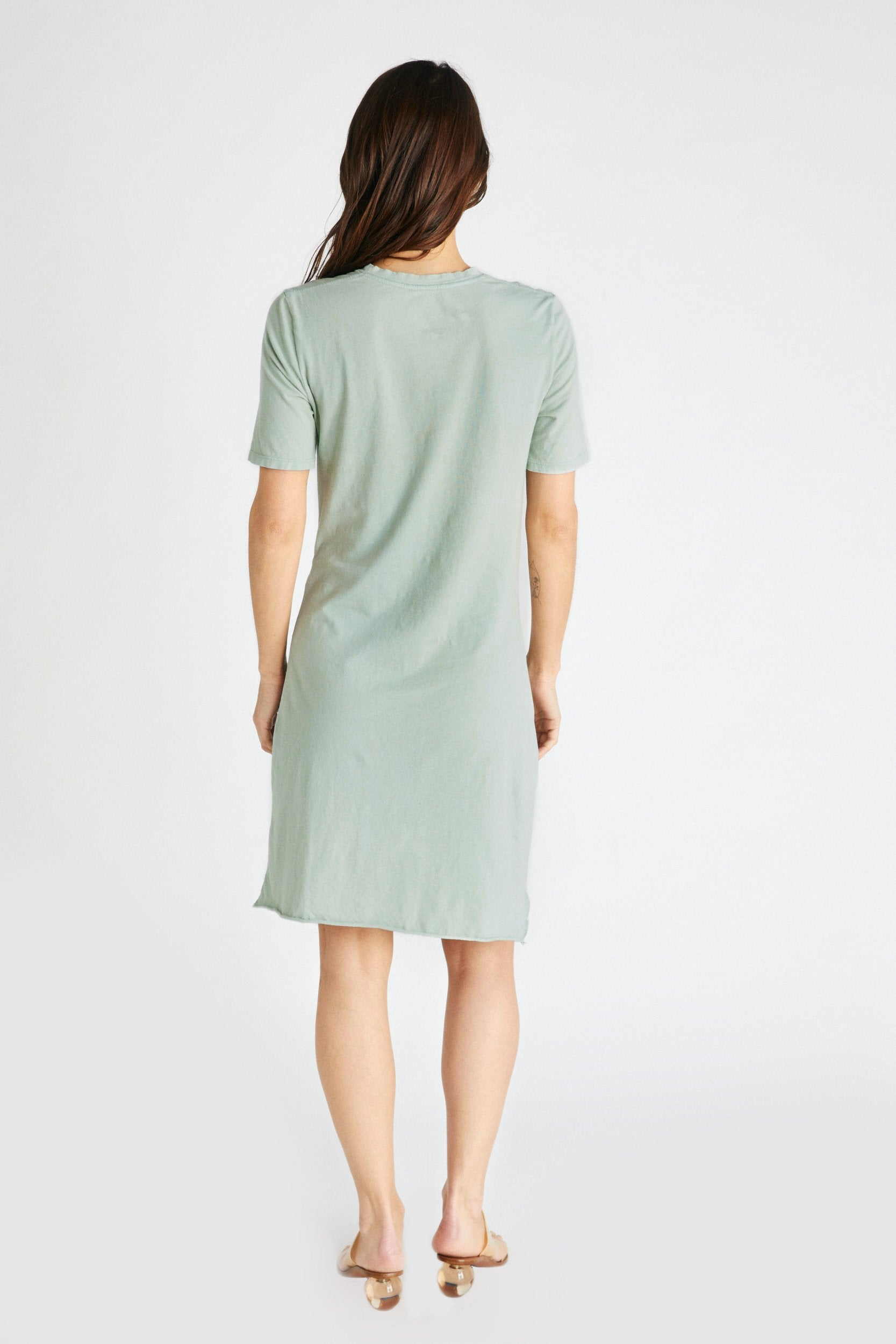 Veronica Twist Tee Dress - Agave