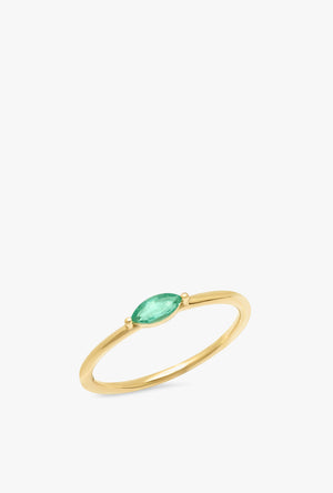 Emerald Marquise Ring