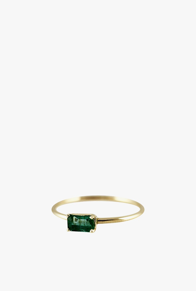 Emerald Octagon Ring