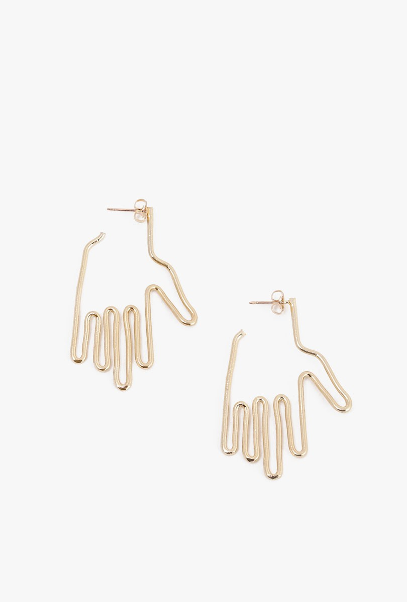 Exclusive Mini Hand Earrings
