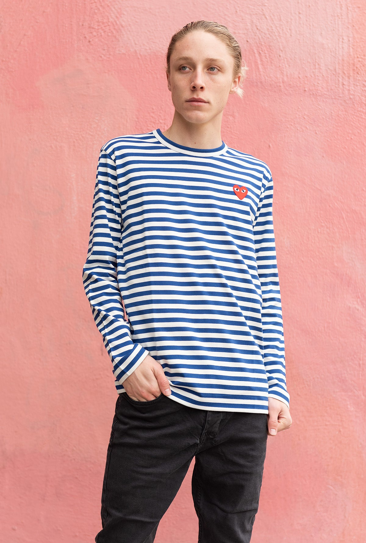 Men's Striped L/S Tee