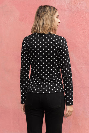 Women's Polka Dot L/S T-Shirt