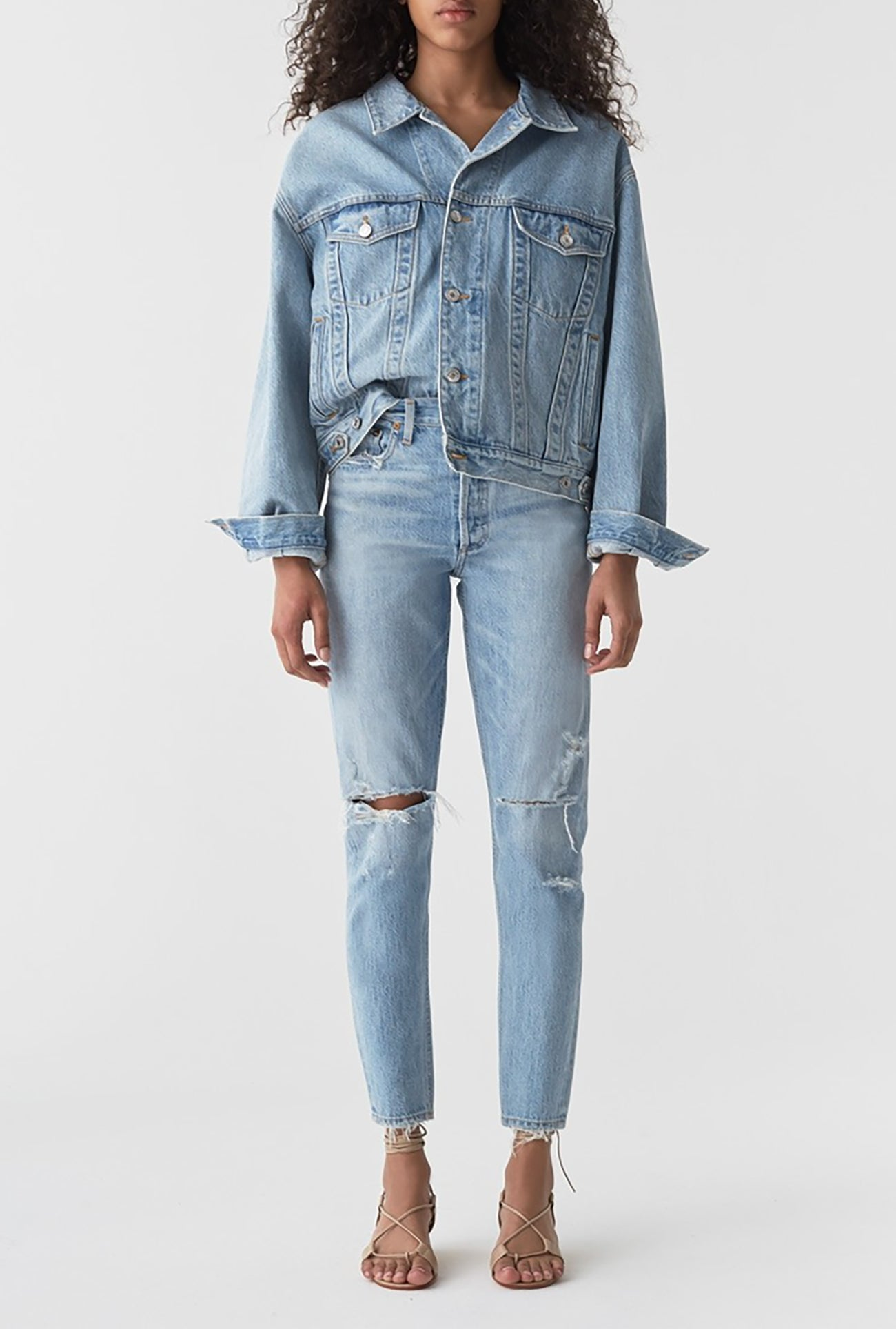 Jamie High Rise Classic Jean in Shakedown