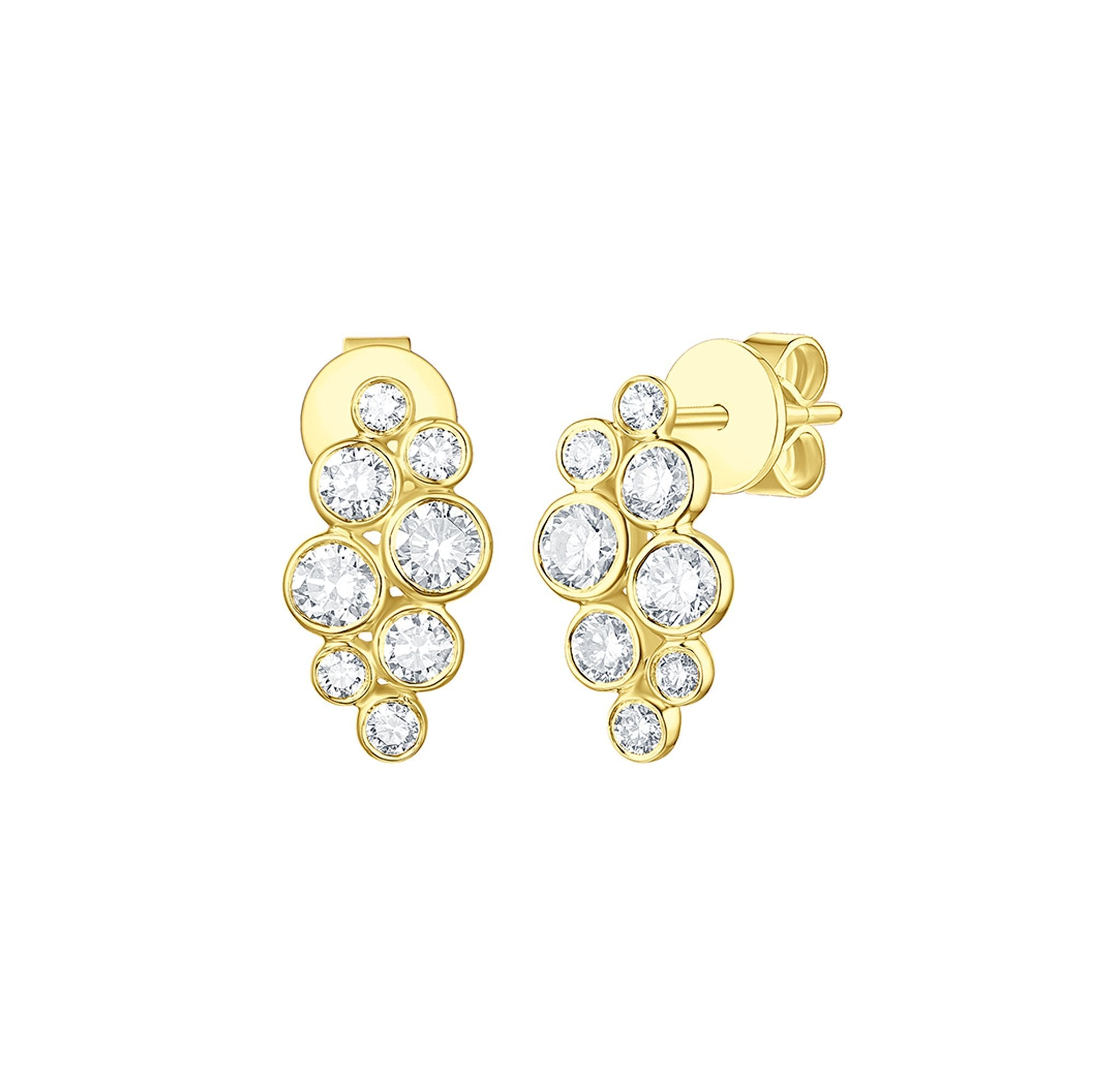 Bubbly Lab Grown Diamonds Earrings