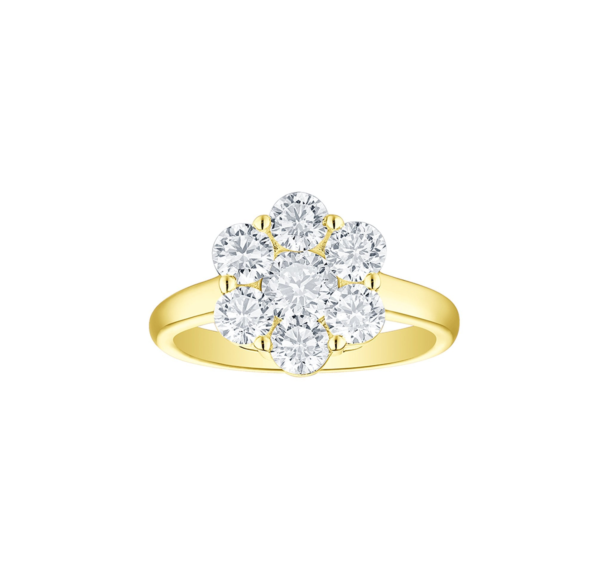 Essentials 2.07ct Cluster Flower Ring