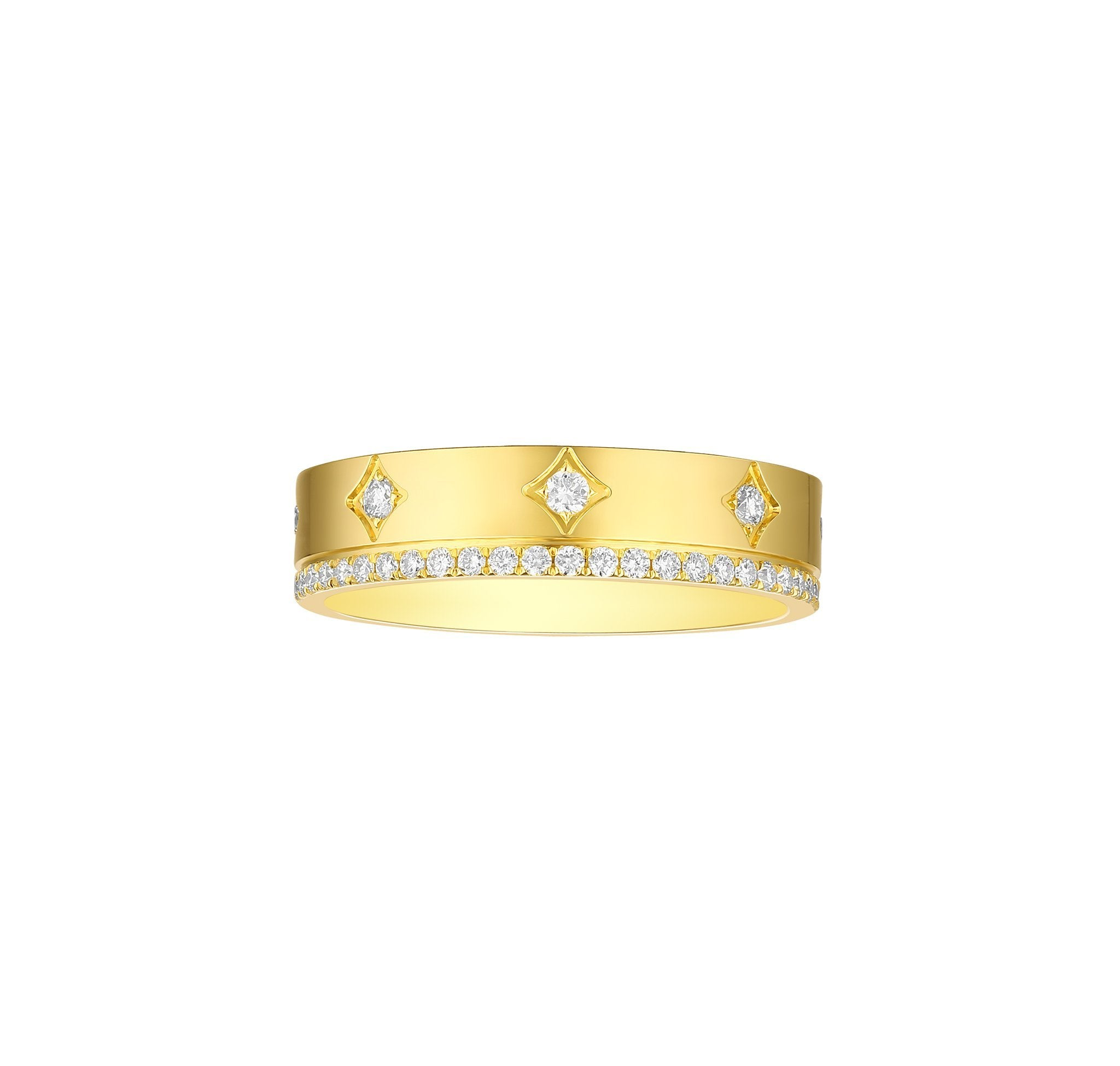 Stackable Lab Grown Diamond Sparkle Band