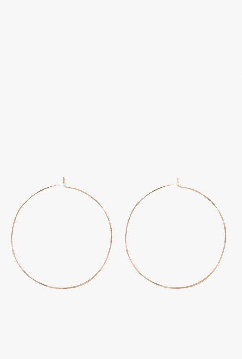 Large Floating Hoop Earrings
