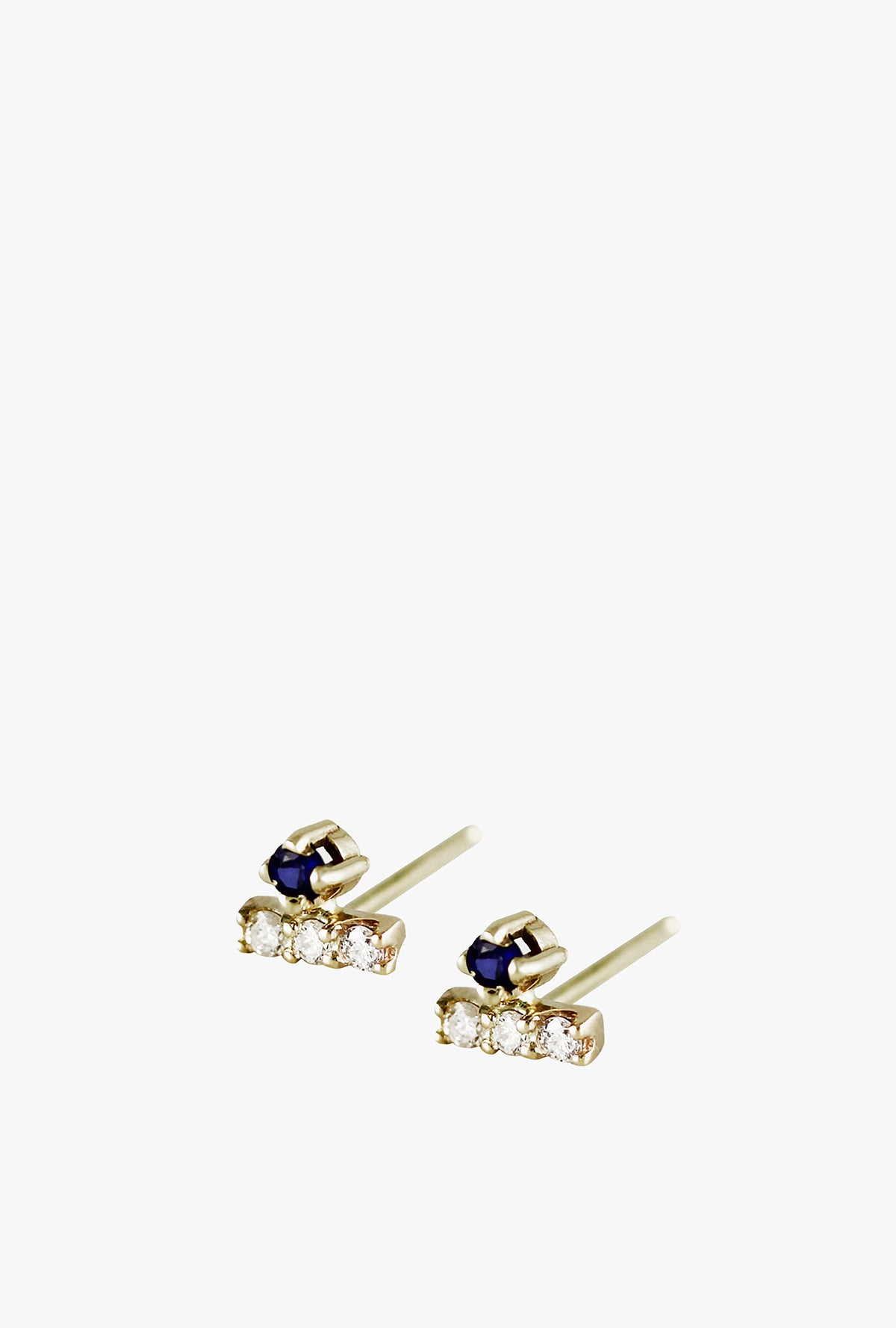 Mini Diamond Pave Bar Earrings