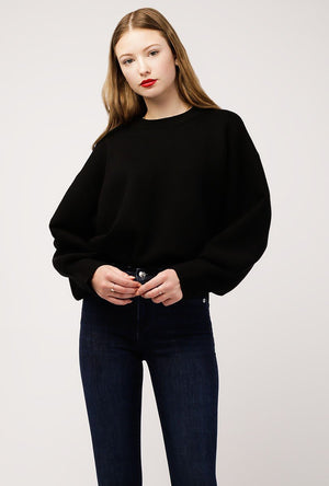 Mock Neck Knit Solid Sweater