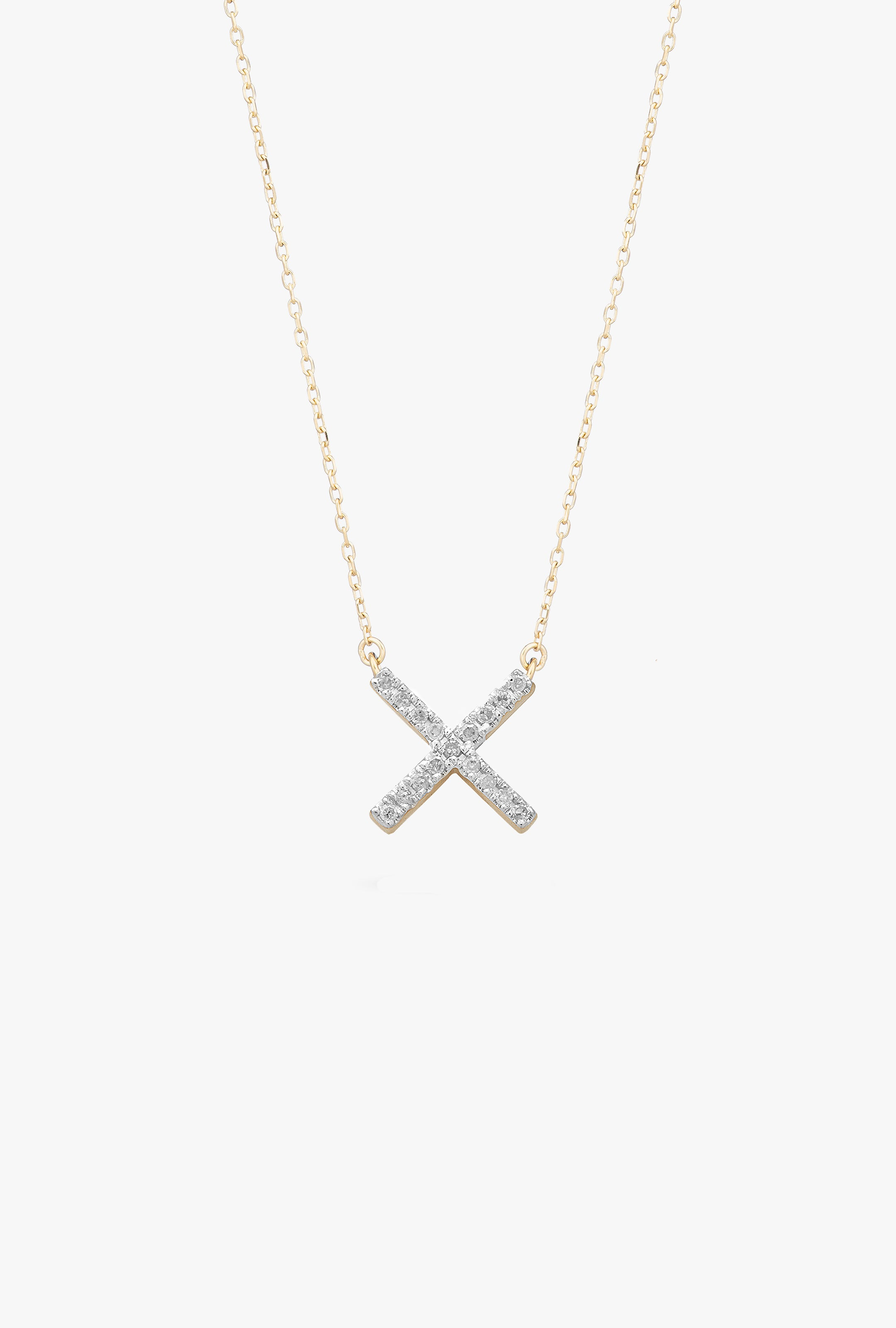 Pave X Necklace