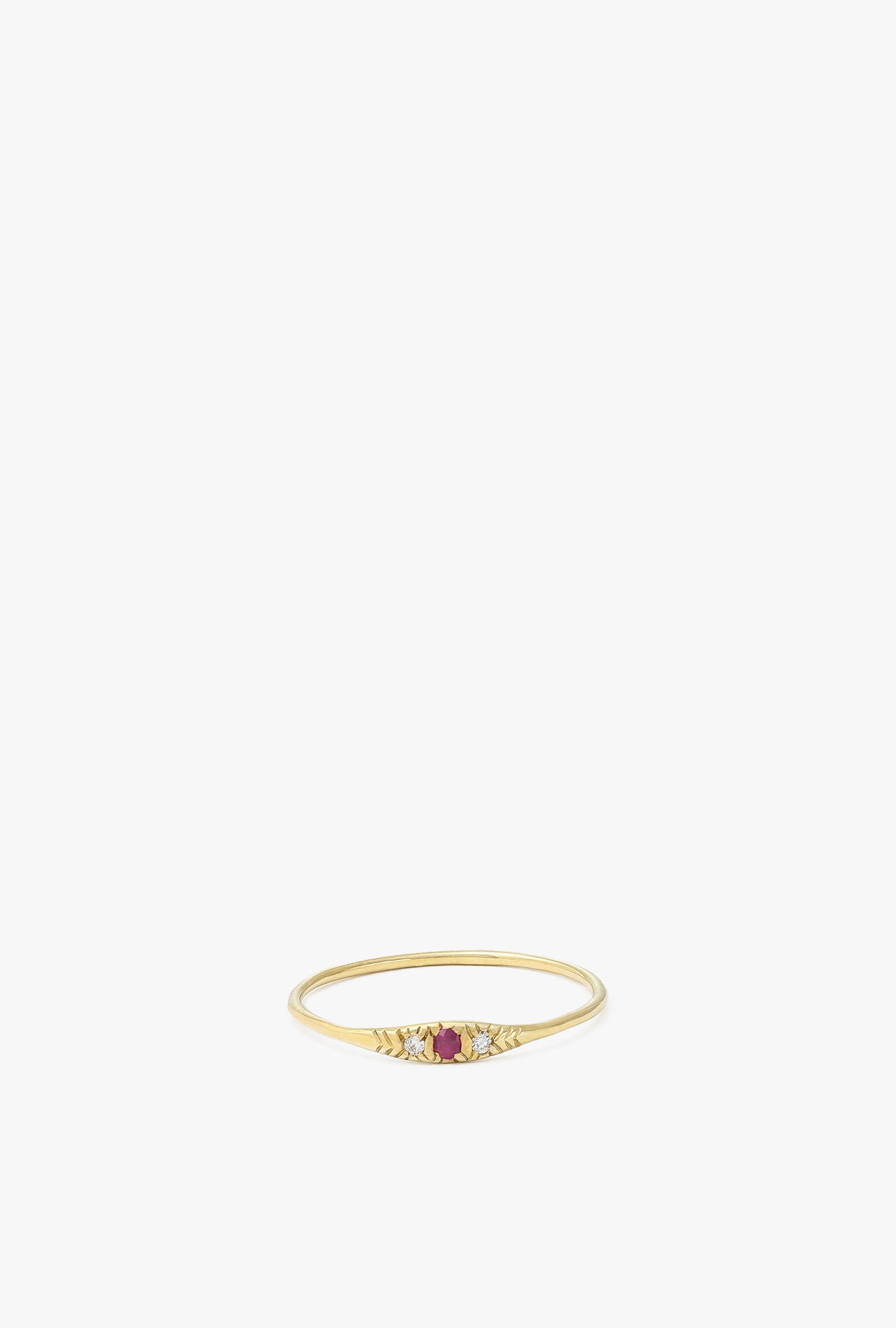 Pave Ruby Ovate I Ring