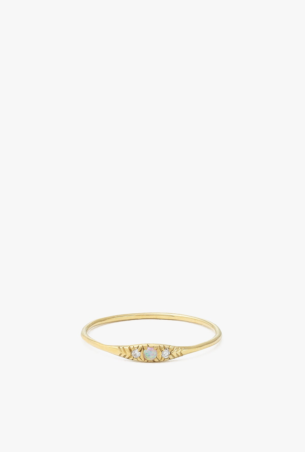 Pave Opal Ovate I Ring