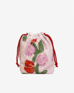 Pouch Tulip in Bead Light Pink