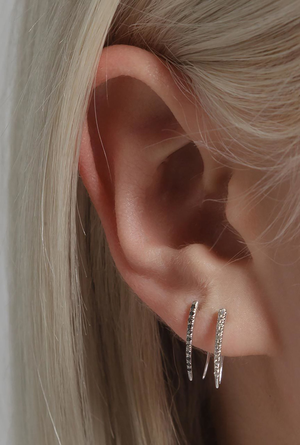 Pave Infinite Tusk Earring S