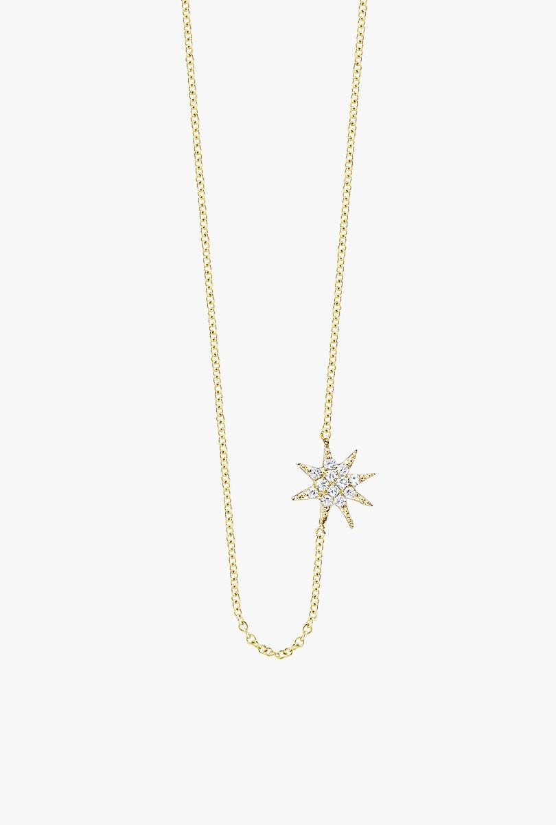 Pave Shooting Star Necklace