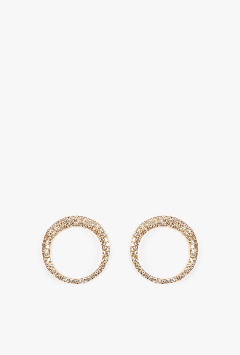 Pave Small Balloon Earrings P