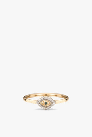 Super Tiny Pavé Evil Eye Ring