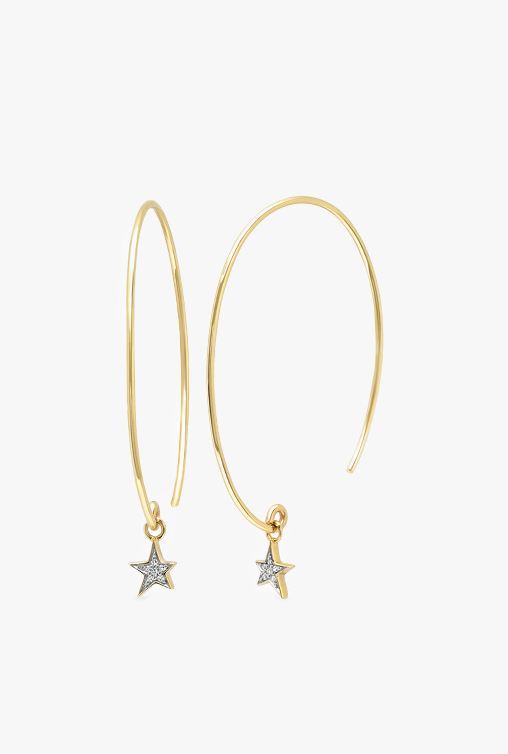 Diamond Star Charm Earrings