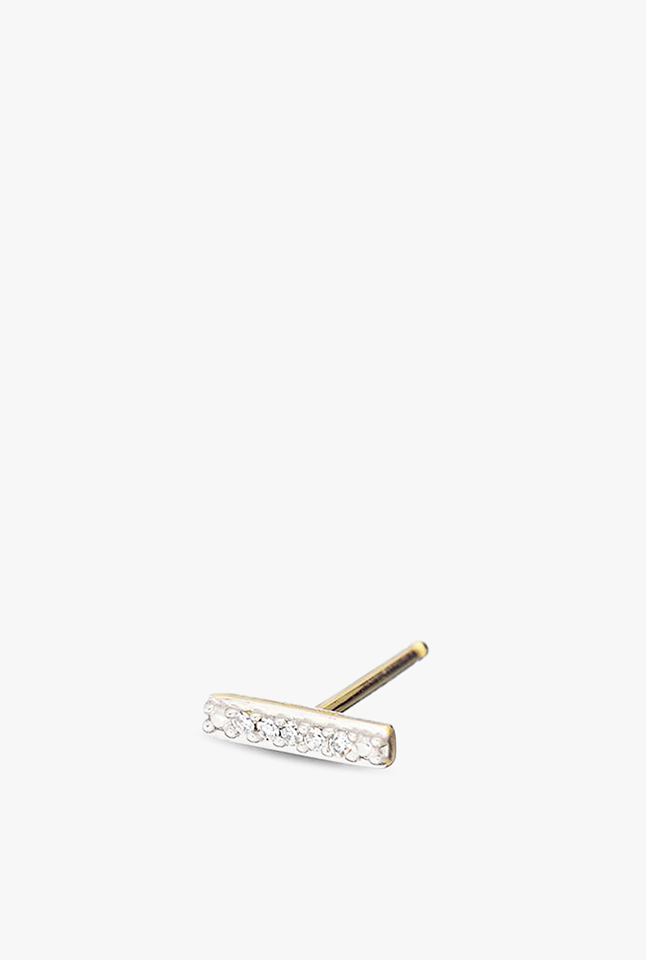 Super Tiny Pave Bar Post Earring