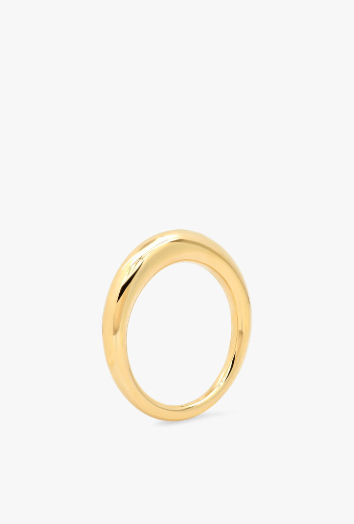 Solid Gold Asymmetrical Ring
